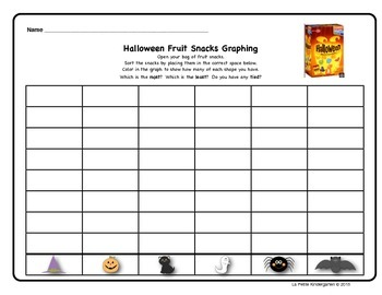 Halloween Fruit Snacks Sorting and Graphing