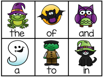 Halloween Fry's First 50 Sight Word Game