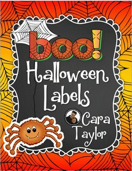 Halloween Full Page Labels, Binder/Notebook or Journal Covers