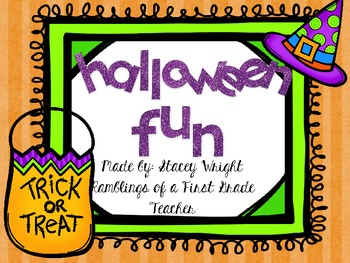 Halloween Fun!!  A math & literacy mini unit