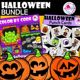 Halloween Fun BUNDLE Color by Number & Punch Cards