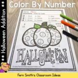 Color By Numbers Halloween Math Addition