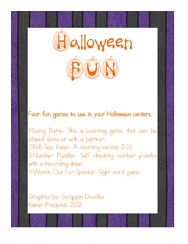 Halloween Fun Centers