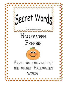 Halloween FREEBIE Fun with Secret Words