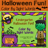 Halloween Color By Sight Words Kindergarten - Journeys & Dolch