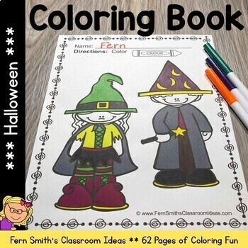 Halloween Coloring Pages - 62 Page Halloween Coloring Book