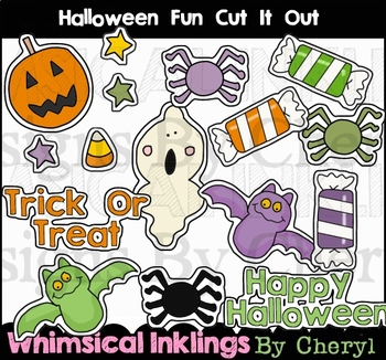 Halloween Fun Cut It Out Clipart Collection