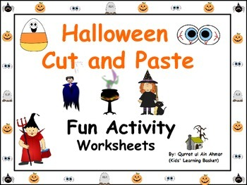Halloween Fun Cut and Paste Activity Worksheets: