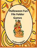 Halloween Fine Motor File Folder Games Special Education Early Childhood