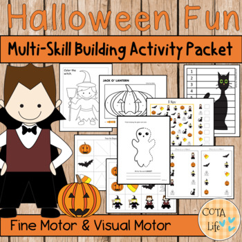 Halloween Fun Fine and Visual Motor Skills Packet