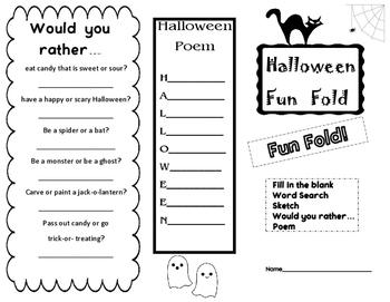Halloween Fun Fold