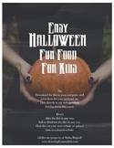 Halloween Fun Food For Kids E-Book