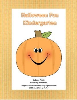 Halloween Fun For Kindergarten Following Directions Cut and Paste