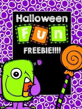 Halloween Fun Freebie!