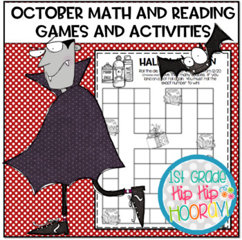 October Math and Literacy Activities...Print and Go!