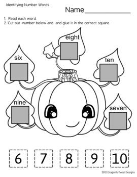 Halloween Fun- Identifying Number Words