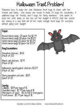 Halloween Fun Learning Activities for Grades 3-5