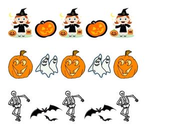 Halloween Fun: Matching & Pattern Practice for preschool & K