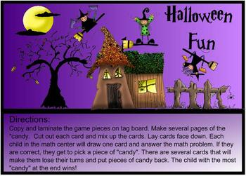 Halloween Fun Math Center-Subtraction Practice