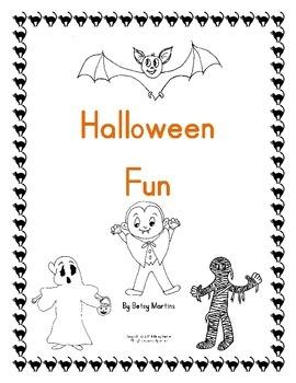 Halloween Math Fun Packet