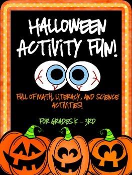 Halloween Fun!  Math and Language Arts FREEBIE!