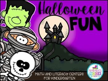 Halloween Fun {Math and Literacy Centers for Kindergarten}