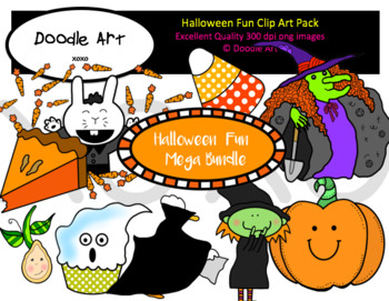 Halloween Fun Mega Clipart Bundle