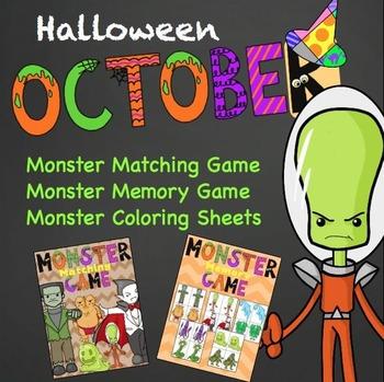 Halloween free - Monster matching game!