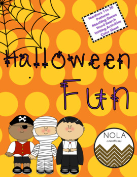 Halloween Fun- No Prep Math and Literacy Activity Pack