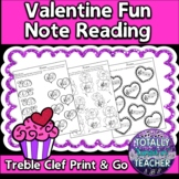 Music Worksheets: Valentine's Day Note Reading Fun {Treble Clef}