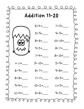 Halloween Fun Pack - 15 Printable Pages - Math & Literacy - First Grade