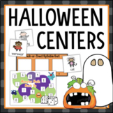 Halloween Math and Reading Centers 1st Grade 2nd Grade