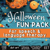 Halloween Fun Pack | NO PREP Speech Language Therapy Activ