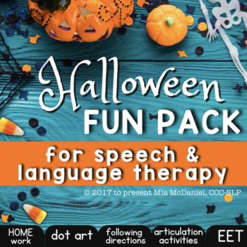 Halloween Fun Pack for Speech Therapy