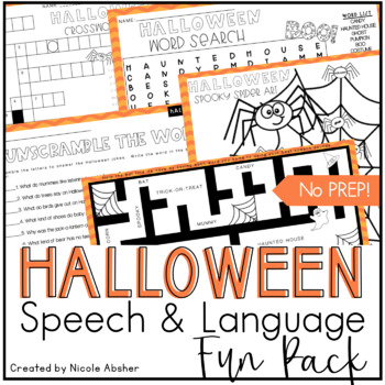 Halloween Fun Pack for Speech and Language Therapy