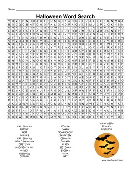 Halloween Fun Pack (story problems, word-search, spooky stories)