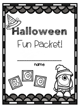 Halloween Fun Packet ~No-Prep!