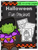 Halloween Fun Packet ~No-Prep!