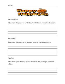 Halloween Fun Page!