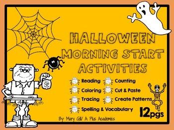 First Grade Halloween Morning Start Activities