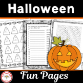 Halloween Fun Pages