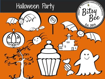 Halloween Fun Party (Bitsy Bee Clip Art)