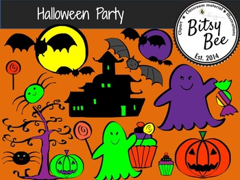 Halloween Fun Party (Bitsy Bee Clip Art)