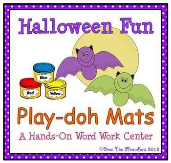 Halloween Fun Playdoh Mats