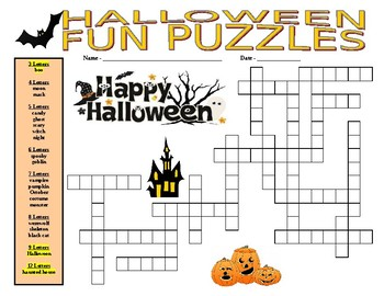 Halloween Fun Puzzles (2 puzzles)