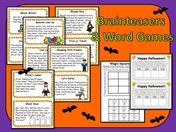Halloween Fun!  Reading, Writing, Math, & Critical Thinking Activities!