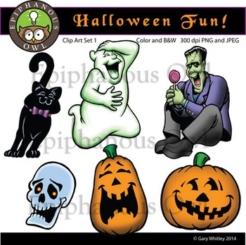 Halloween Fun Clip Art Set 1