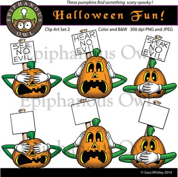 Halloween Fun Clip Art Set 2