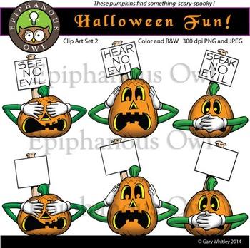 Halloween Fun Clip Art Set 2