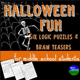 Halloween Fun- Six Logic Puzzles and Brain Teasers for Mid